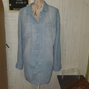Avi&Viv plus size 3x chambray denim button tunic